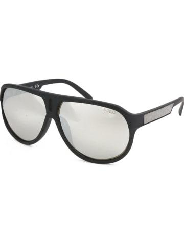 Guess Herren-Sonnenbrille in Schwarz/ Silber