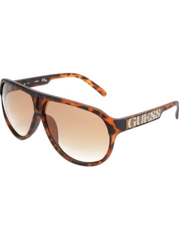 Guess Damen-Sonnenbrille in Braun/ Hellbraun