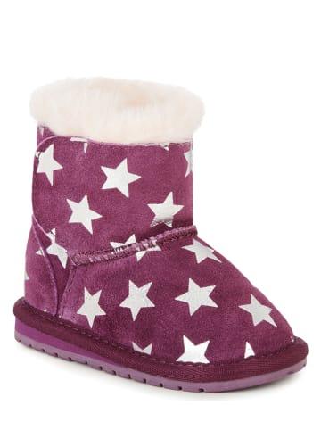 """EMU Leren winterboots """"Toddle Starry Night"""" pruimkleurig"""