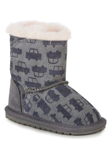 """EMU Leren winterboots """"Toddle Cars & Trucks"""" grijs"""