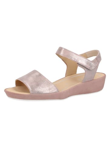 Ara Shoes Leder-Sandaletten in Silber