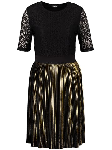 TAIFUN Sukienka w kolorze czarno-złotym