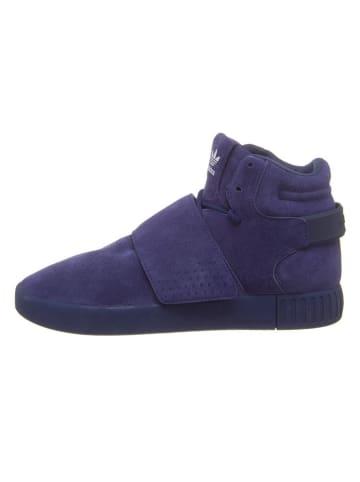 "Adidas Leder-Sneakers ""Invader Str"" in Dunkelblau"
