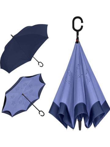 Le Monde du Parapluie Parasol odwrotny w kolorze granatowo-niebieskim - Ø 108 cm