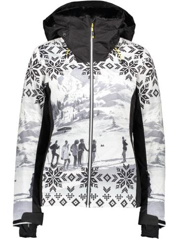 CMP Kurtka narciarska w kolorze czarno-białym