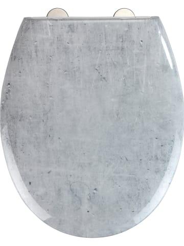 """Wenko Absenkautomatik-WC-Sitz """"Concrete"""" in Grau"""