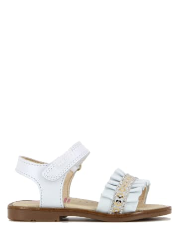 Pablosky Leder-Sandalen in Weiß