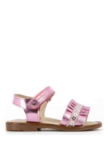 Pablosky Skórzane sandały w kolorze jasnoróżowym