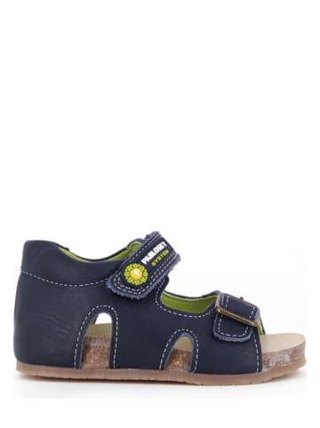 Pablosky Skórzane sandały w kolorze granatowym