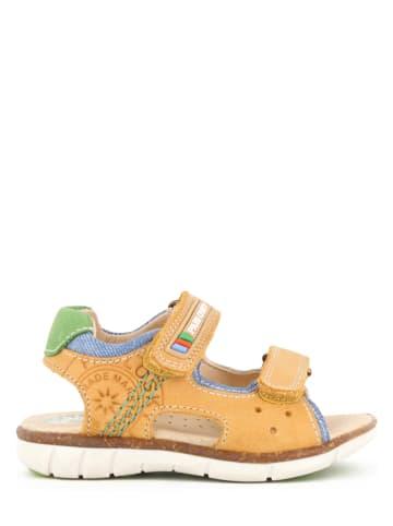 Pablosky Leren sandalen geel