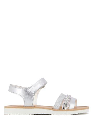 Pablosky Leren sandalen zilverkleurig