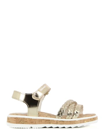 Pablosky Leren sandalen goudkleurig