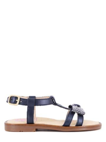Pablosky Leren sandalen donkerblauw