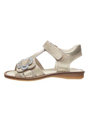 BO-BELL Skórzane sandały w kolorze złotym