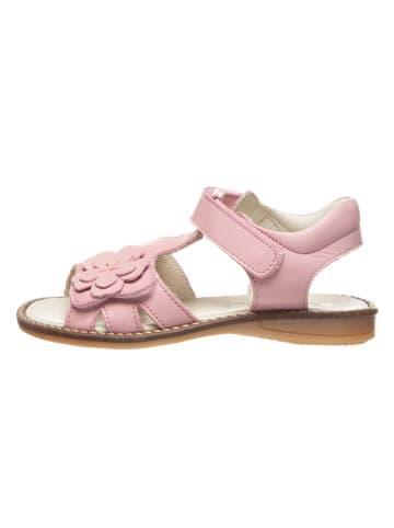 BO-BELL Skórzane sandały w kolorze jasnoróżowym