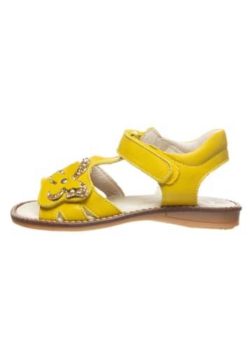 BO-BELL Leder-Sandalen in Gelb