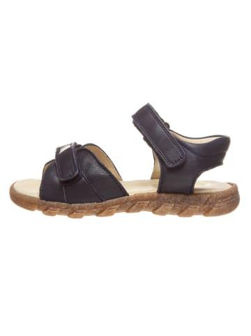 BO-BELL Skórzane sandały w kolorze granatowym