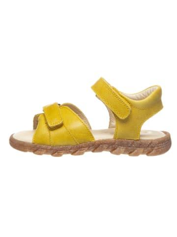 BO-BELL Skórzane sandały w kolorze żółtym
