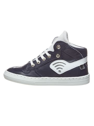 BO-BELL Skórzane sneakersy w kolorze niebieskim