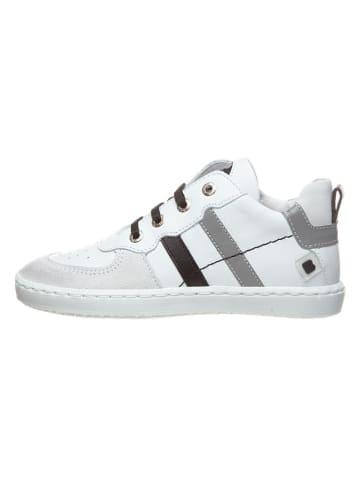 BO-BELL Skórzane sneakersy w kolorze białym