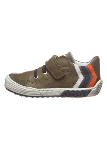 BO-BELL Leder-Sneakers in Khaki