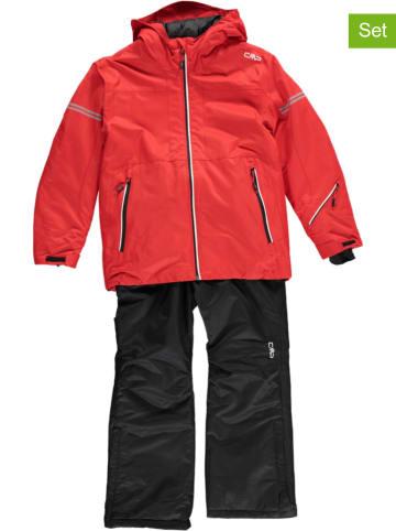 CMP 2-delige ski-/snowboardoutfit rood/zwart
