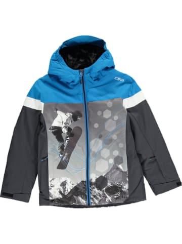CMP Kurtka narciarska w kolorze antracytowo-niebieskim