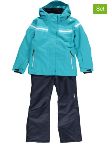 CMP 2-delige ski-/snowboardoutfit turquoise/donkerblauw