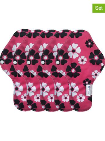 My pads Podpaski (5 szt.) w kolorze różowo-biało-czarnym