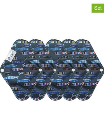 My pads 5er-Set: Slipeinlagen in Blau