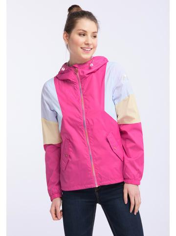 MyMo Jacke in Pink/ Weiß/ Gelb