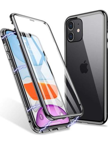 Evetane Full body case voor iPhone 11 zwart/transparant