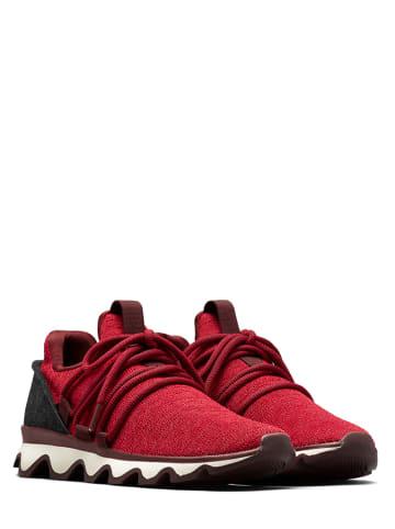 """Sorel Sneakersy """"Kinetic Lace"""" w kolorze czerwonym"""
