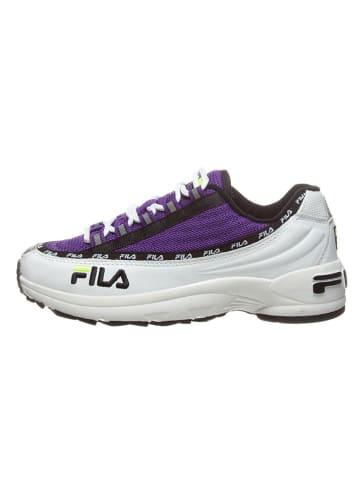 """Fila Leren sneakers """"DSTR97"""" wit/paars"""