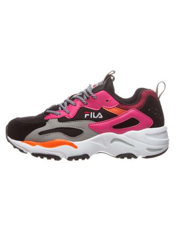 """Fila Sneakers """"Ray Tracer"""" zwart/roze"""