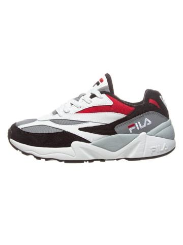 """Fila Leren sneakers """"V94M"""" zwart/wit"""