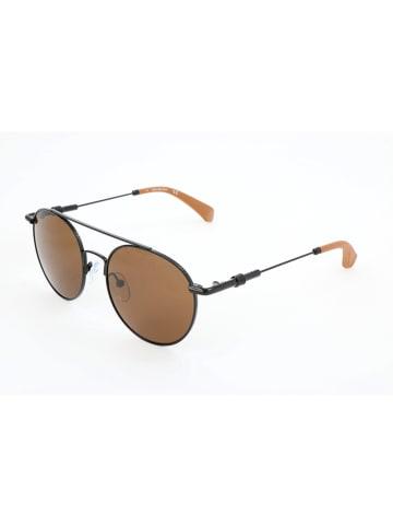 Calvin Klein Damen-Sonnenbrille in Schwarz/ Braun