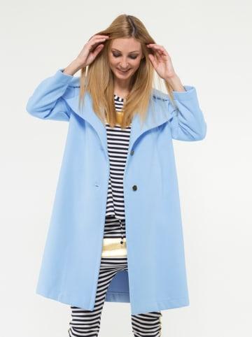 Yuliya Babich Wełniany płaszcz w kolorze błękitnym