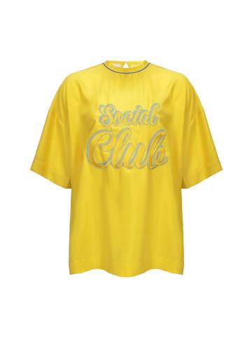Pinko Jedwabna bluzka w kolorze żółtym