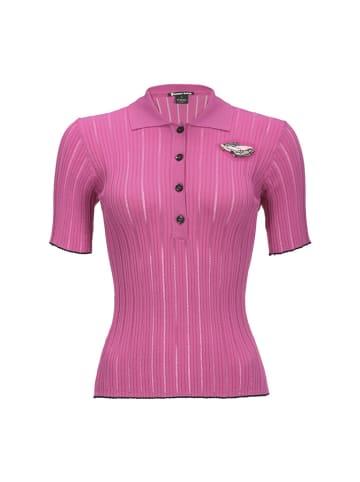 Pinko Koszulka polo w kolorze fuksji