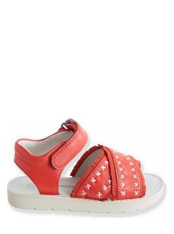 Vertbaudet Leren sandalen rood
