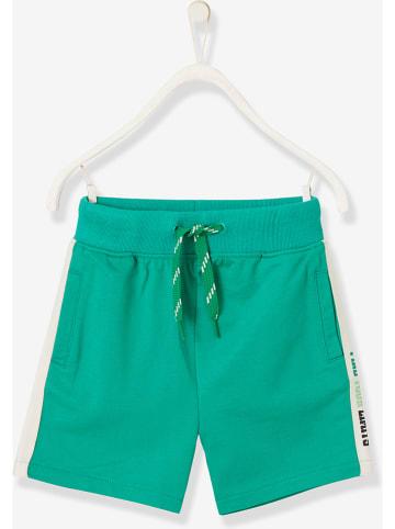 Vertbaudet Szorty w kolorze zielonym