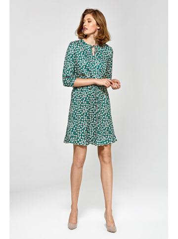 Colett Sukienka w kolorze zielono-białym
