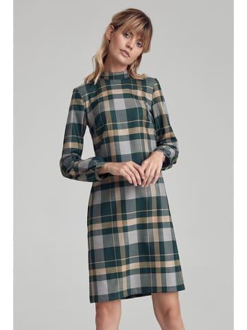 Colett Kleid in Grün/ Gelb