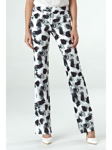 Colett Spodnie w kolorze biało-czarnym
