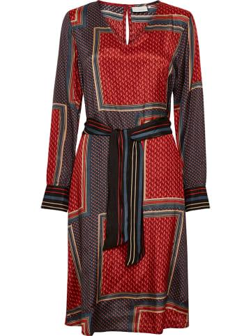 """Kaffe Sukienka """"Meda"""" w kolorze czerwonym ze wzorem"""