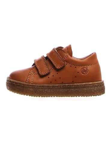 Naturino Leder-Sneakers in Cognac