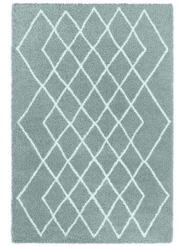 "Elle Decor Hoogpolig tapijt ""Bron"" mintgroen/crème"