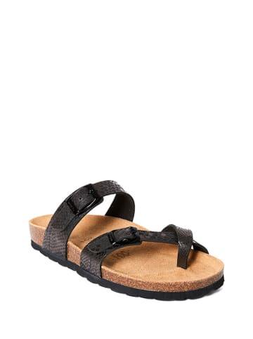 Mandel Slippers zwart