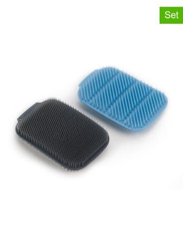 JosephJoseph Gąbka (2 szt.) w kolorze błękitno-szarym do mycia naczyń - (D)11 x (S)7,5 cm